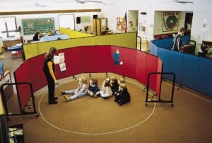 Various height of the dividers help in a daycare center