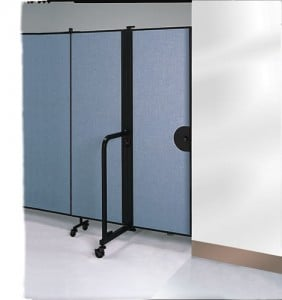 Room Divider Swing Style Door on the end of a Room Divider