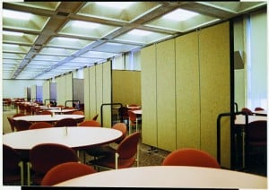 Divided Conference Rooms with Wallmount room dividers