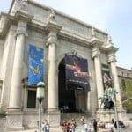 The front exterior landscape of the American Museum of Natural History in New York.