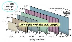 Room Divider Sizes