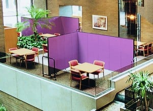 Screenflex Standard Partitions Divide Areas in a Hotel