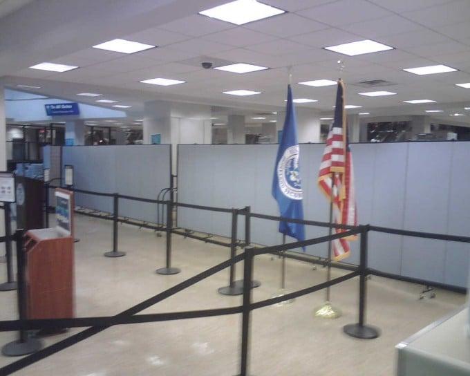 Portable TSA Partitions at the Phoenix airport