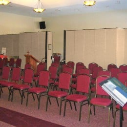 FREEstanding Partitions set up for a church service