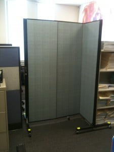 Freestanding Office Partition used in an office
