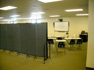 Room Dividers create needed High School classrooms