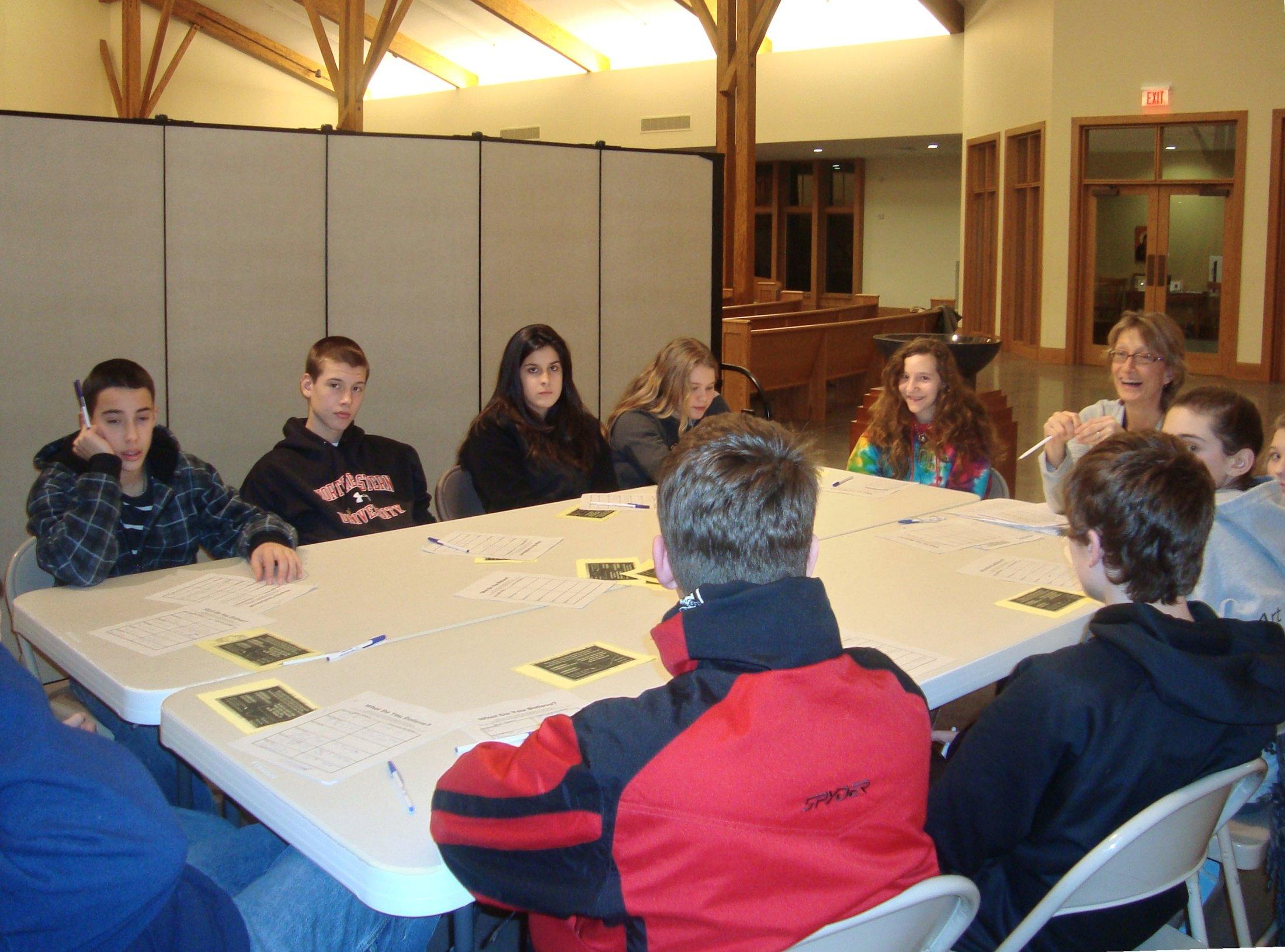 Confirmation Class Church Room Divider