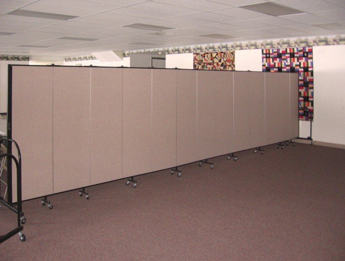 Church fellowship hall designs using room dividers