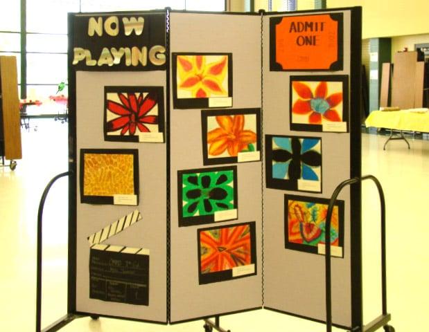 Elementary School Art Display