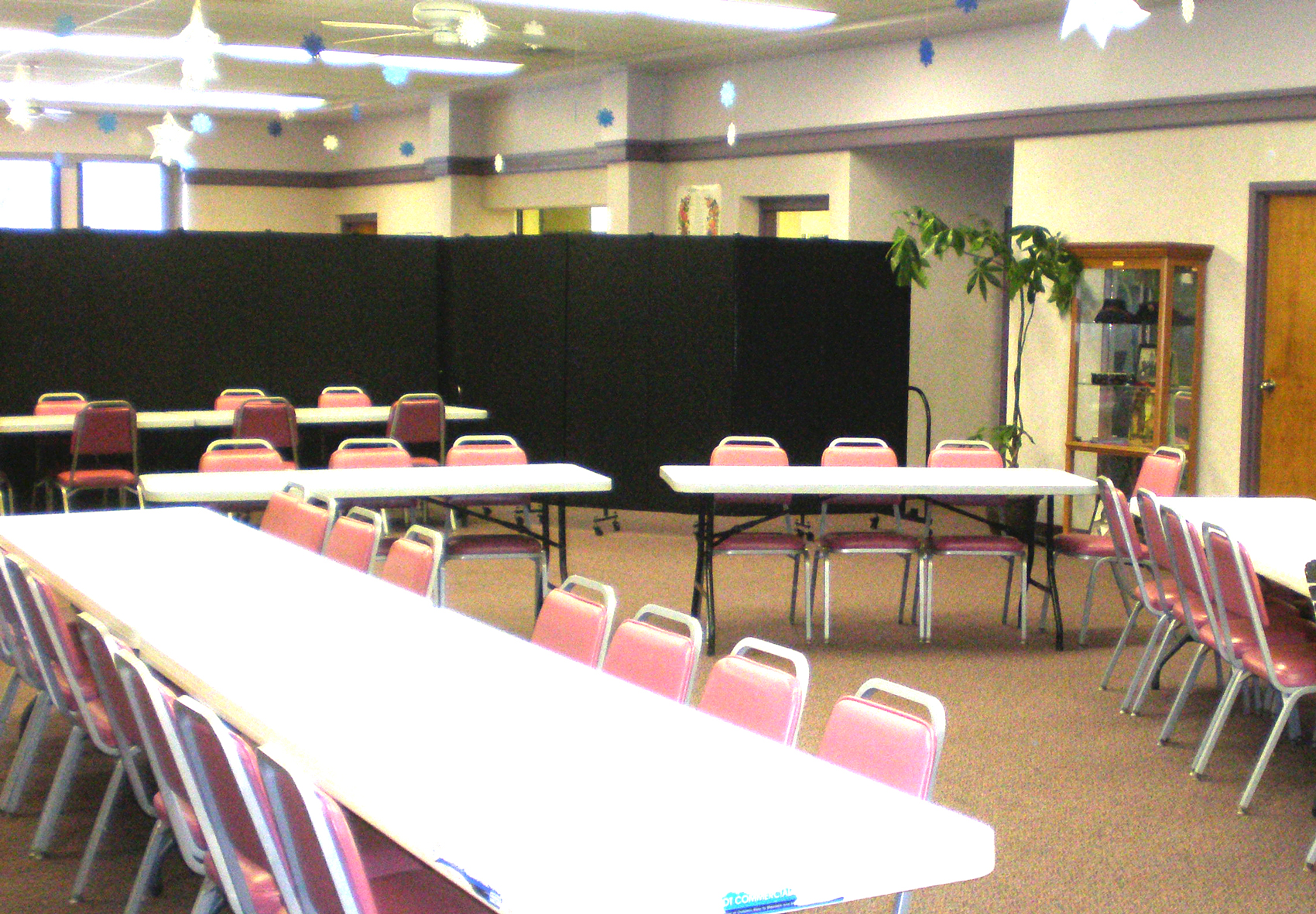 Salvation Army Meeting Room divided by Portable Room Divider