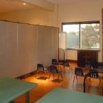 Versatile room dividers add additional Sunday School classrooms