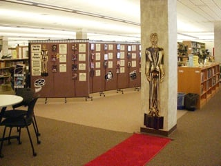 University Library Displays Oscar Trivia on Folding Walls