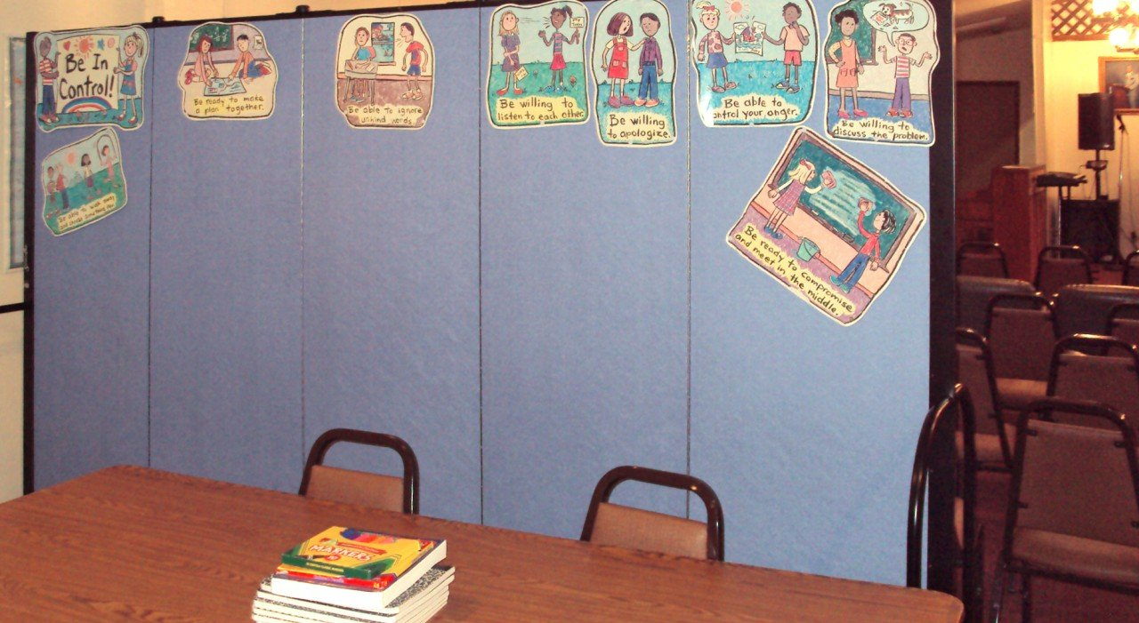 Sunday School Classroom Divider display board