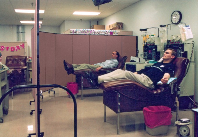 Portable Room Dividers provide privacy during the blood drive