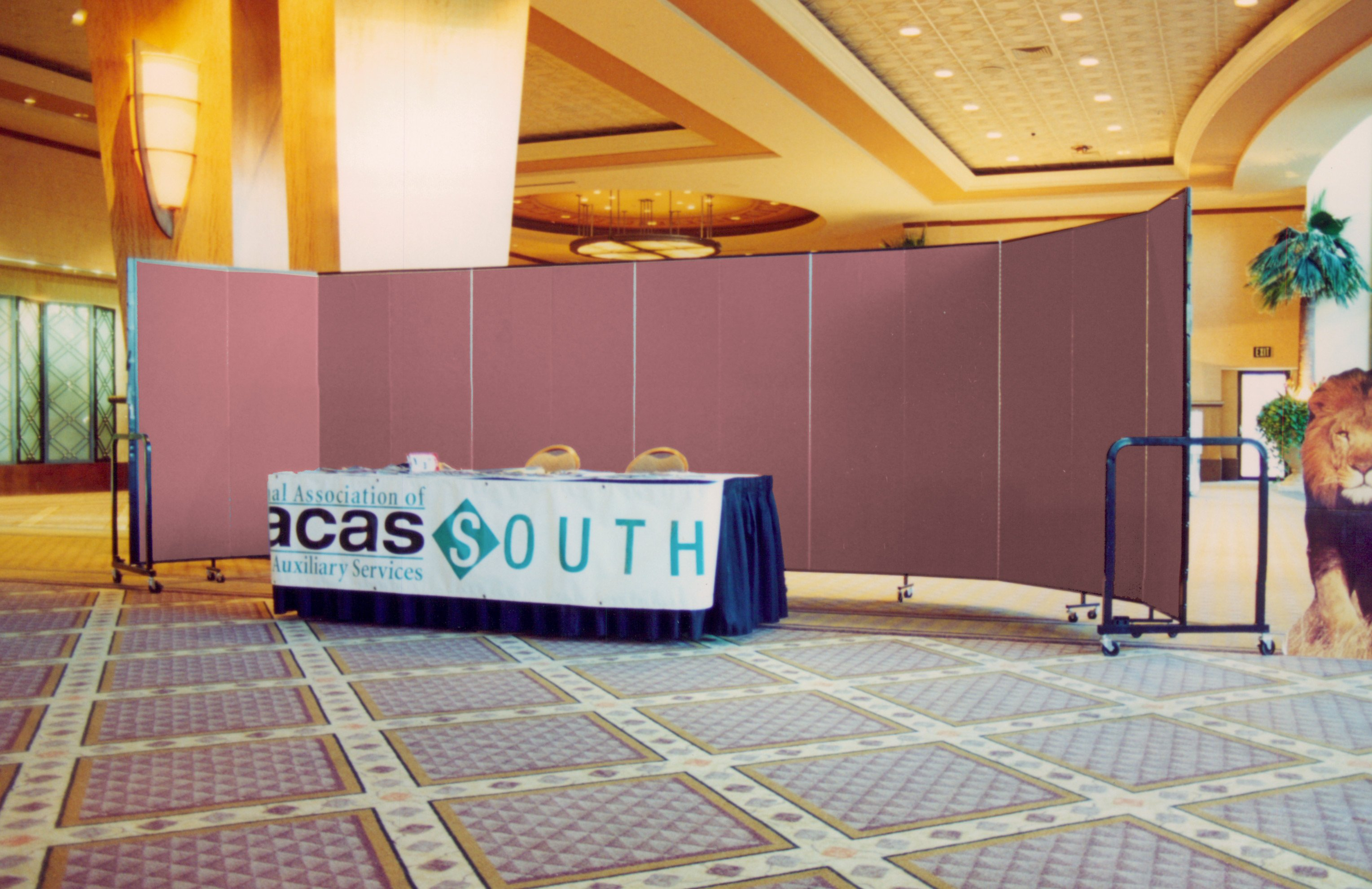 Freestanding Divider used as backdrop during conference registration