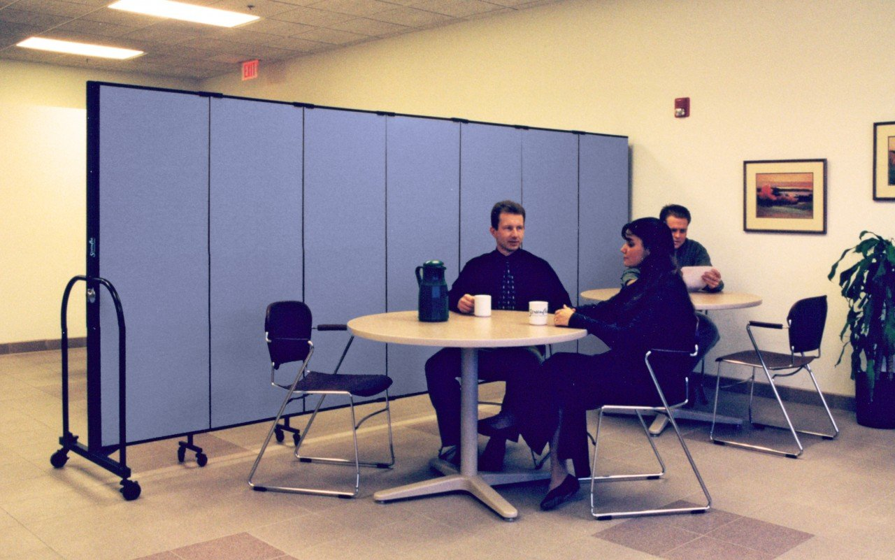 Staff relax in a private break room