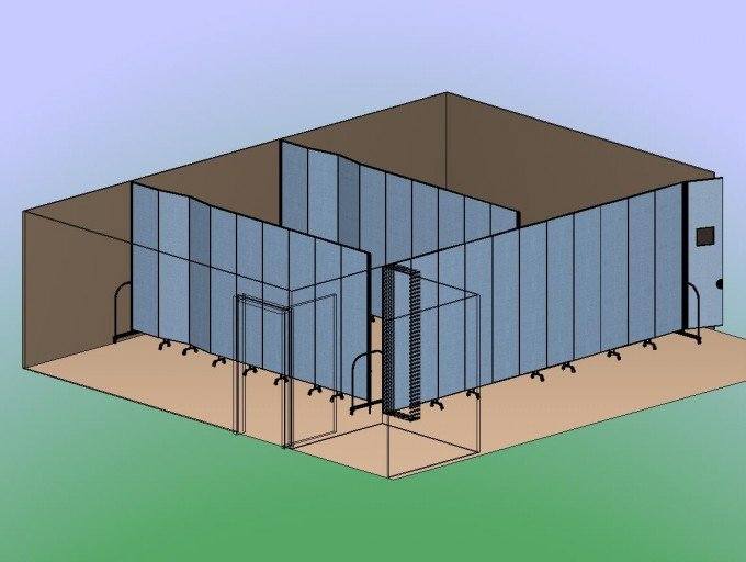 Three Classrooms in a Corner 3D