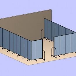 Two Divider Room 3D