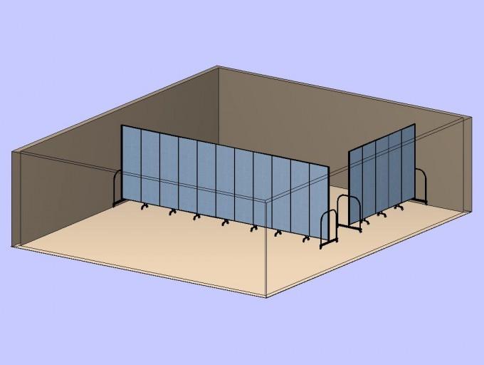 Corner Divider Room 3D