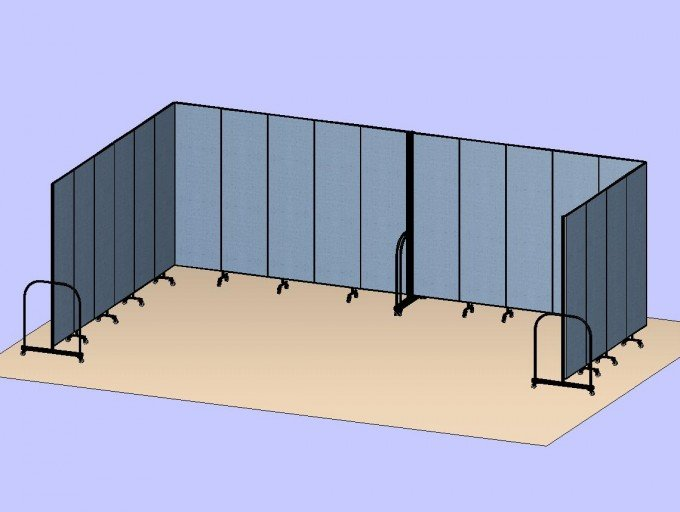 U Shaped Divider Room 3D
