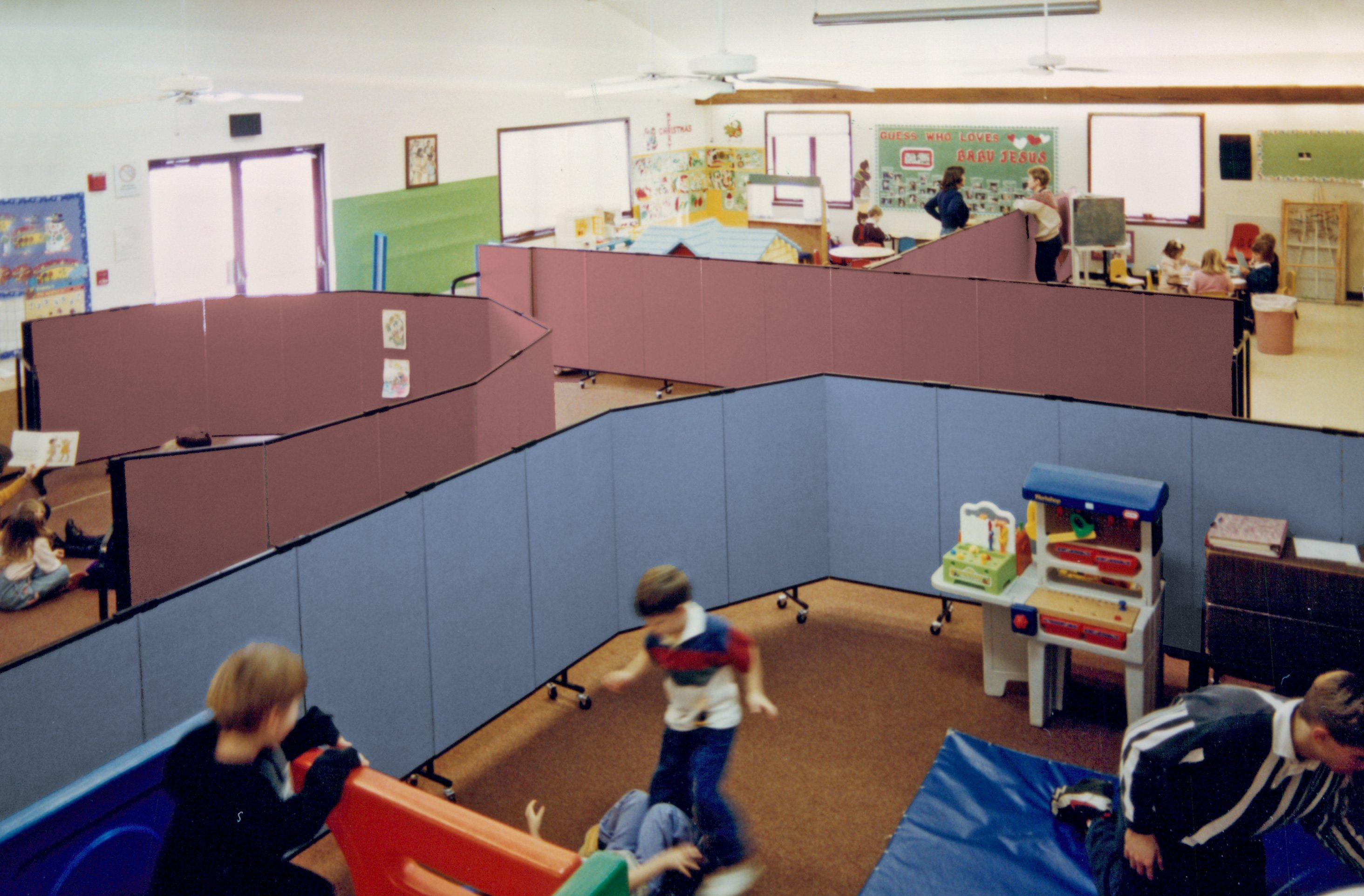 School Room Dividers Part - 30: 4 Feet Room Divider Can Set Up In Any Configuration At Any Time