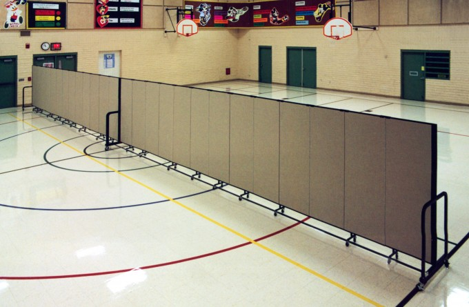 School Gymnasium Design Transformed with Room Dividers