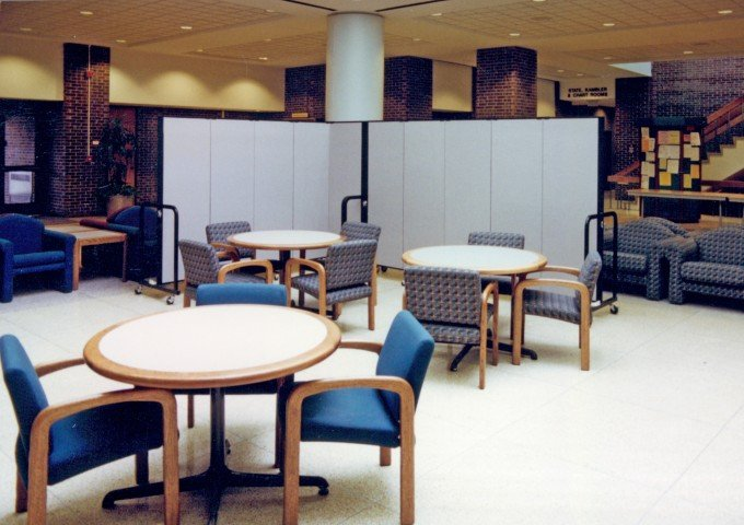 Versatile portable dividers help manage space in Student Unions across the world.
