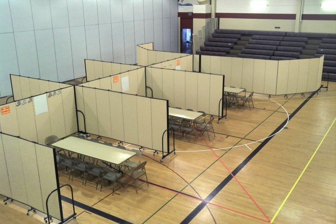 Church Gymnasium Room Divider Classrooms