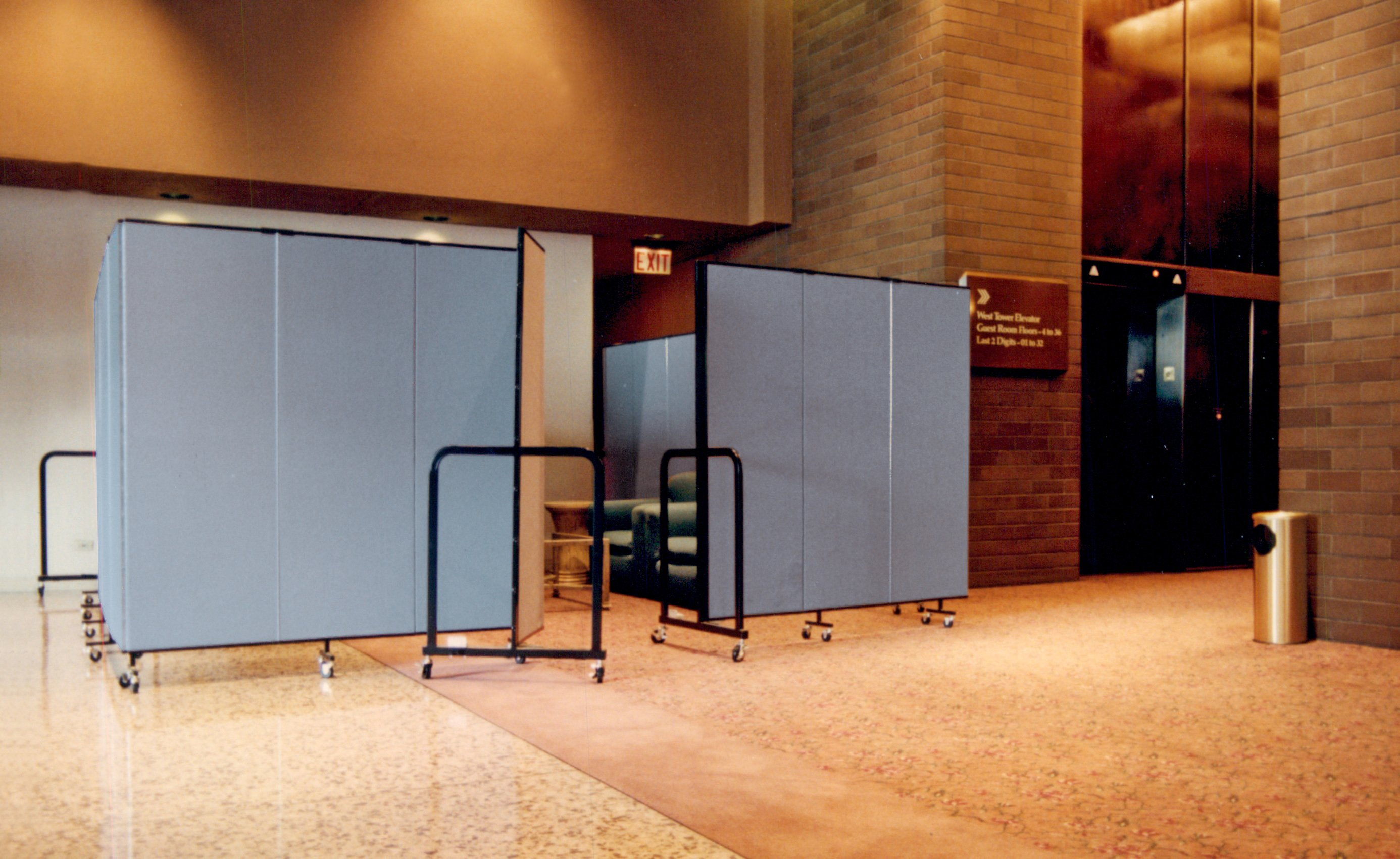 Additional meeting room easily created in a secluded area of the hotel during a busy convention