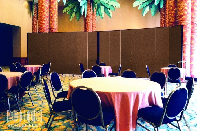 Banquet Hall With Food Prep Privacy Screen