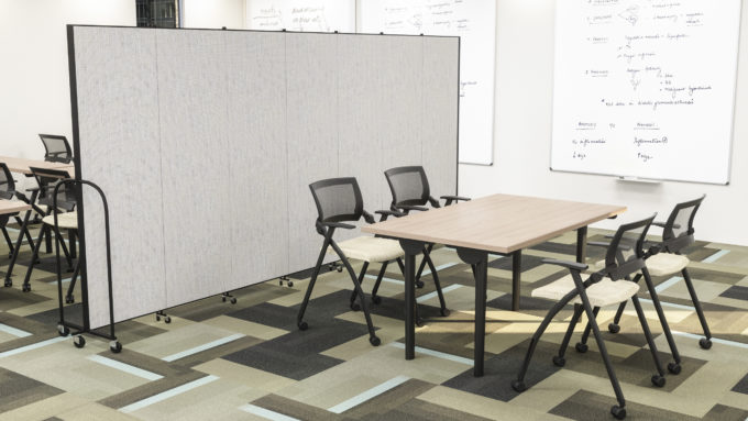 portable wall- classroom