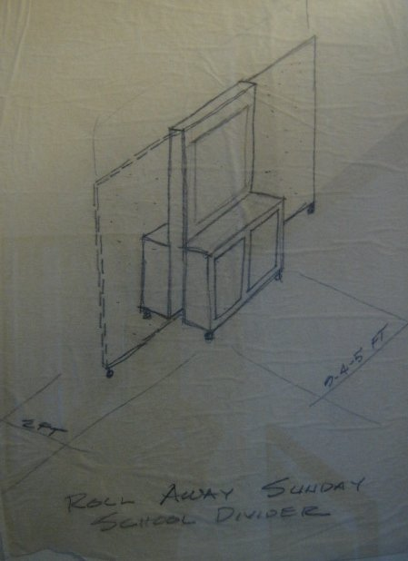 Room Divider Original Sketch