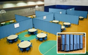 Gymnasium with room dividers