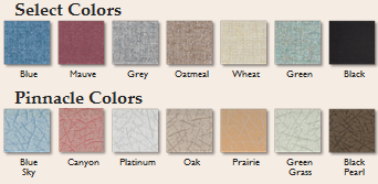 Room Divider Color Swatches for Select and Pinnacle Colors