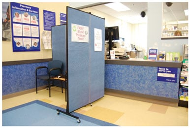 Pharmacy Privacy Screen