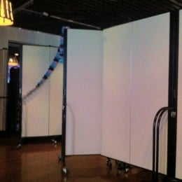 Screenflex Room Dividers create a separate party room in Bob Chinn's restaurant