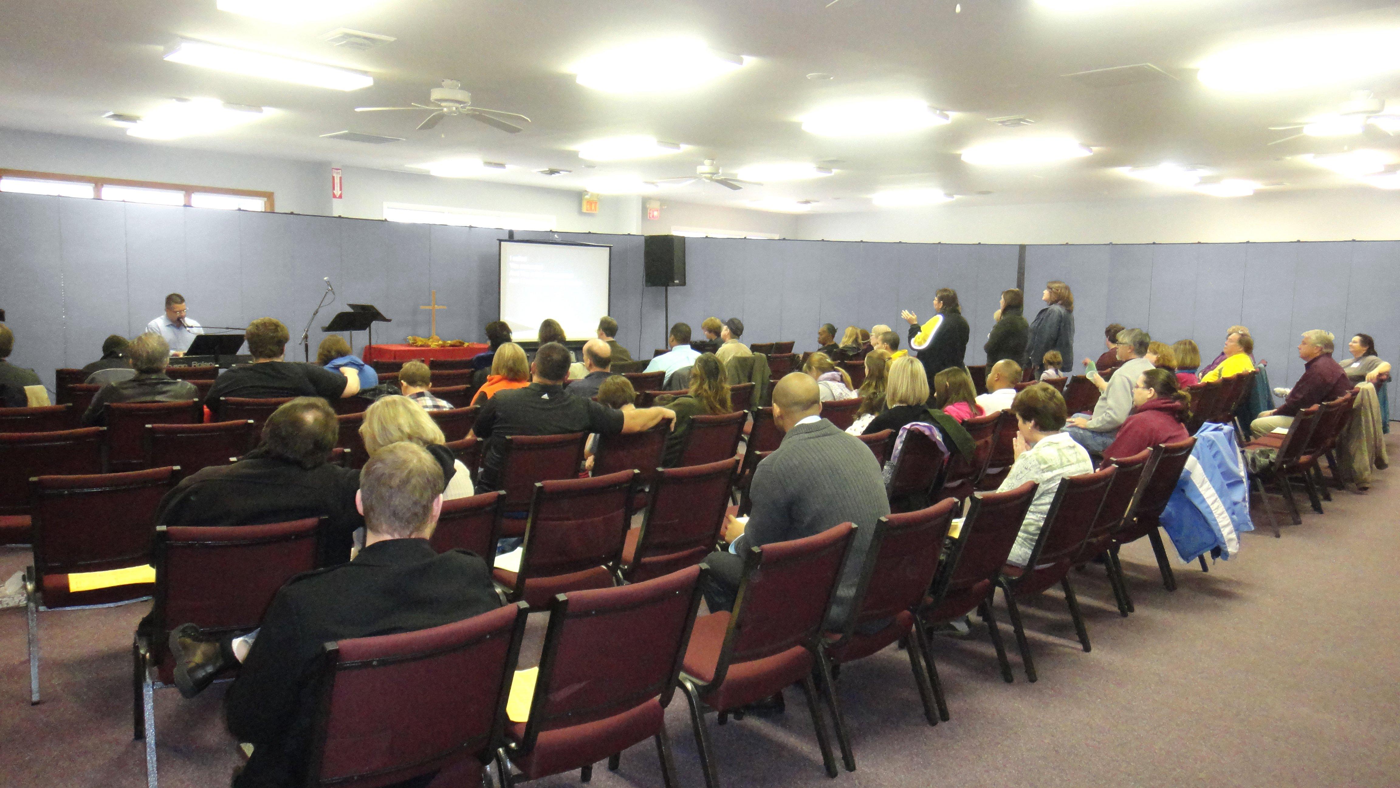 Worship service at Vineyard Church