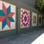 Kentucky Quilt Paintings on a wall