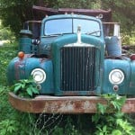 Rusty old Mack truck