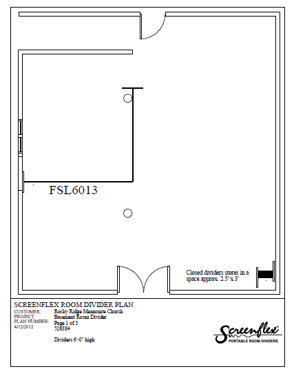 Screenflex Room Divider Plan