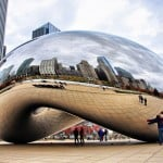 Cloud Gate in Millennium Park Chicago, Il