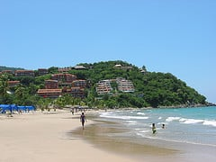 The clean beaches of Ixtapa