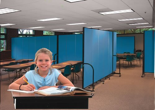 Classroom room dividers are flexible and versatile