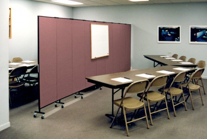 Training Room Configuration Created with Portable Room Dividers