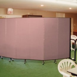 A Screenflex Room Divider creates a private area in a country club room