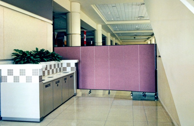 Room Dividers Serve as a Safety Barrier During Maintenance Work