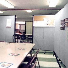 Screenflex Dividers create a temporary classroom with a doorway