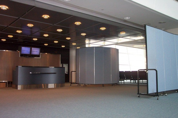Set Up Dividers to Create Airport Screening Rooms