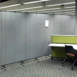 Room Divider separating a classroom and a computer lab