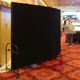 Room Divider hides a wall in a casino